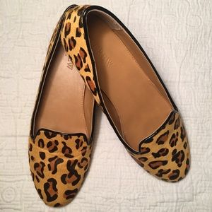J. Crew Factry Leopard Loafer Classic Leather Cora